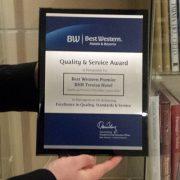 Quality & Service Award - Best Western Premier BHR Treviso Hotel